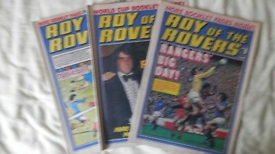 ROY OF THE ROVERS 3 issues (1978)
