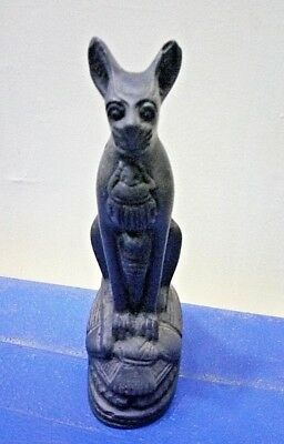 ANCIENT EGYPTIAN ANTIQUE BASTET STATUS Ubaste Cat Goddes Stone 1430-1390 BC