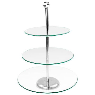 3 Tier Alpina Round Cup Cake Stand Party Cupcake Tower Display Rack Table Decor
