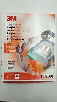 "3M PP2500 Transparency Film For Copiers (105 Sheets) 8 1/2"" x 11"" Used"