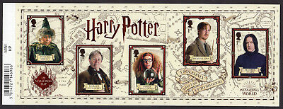 2018 HARRY POTTER Stamp Mini Sheet Mint - WITH BARCODE MARGIN