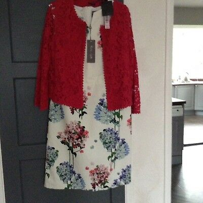 PHASE EIGHT SIZE 16 Beautiful Dress with PHASE EIGHT jacket size 14