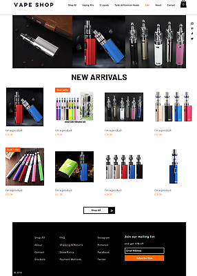 Vaping Business for sale | Suppliers & Website | Profitable & No Stock Needed
