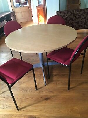 Round office meeting table with 4 chairs