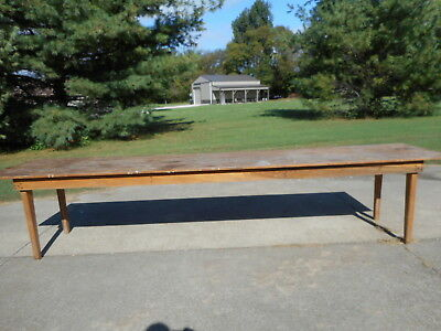 Nice Antique Vintage Harvest Farm House Style Dining Table 12 Ft. Pine Wood Old