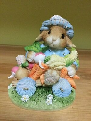 "Enesco My Blushing Bunnies Figure - ""An Abundance Of Blessings"""