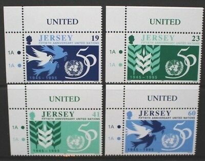 JERSEY 1995 UN United Nations 50th Anniversary. Set of 4. MNH. SG723/726.