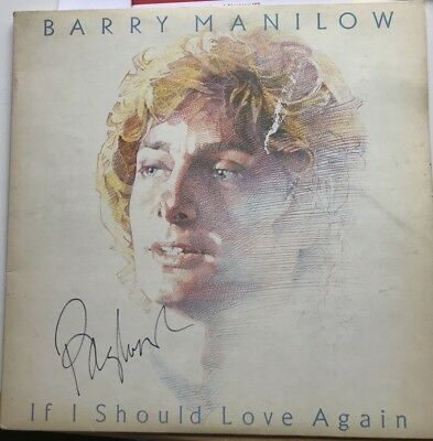 BARRY MANILOW personally signed 'If I should love again' LP cover