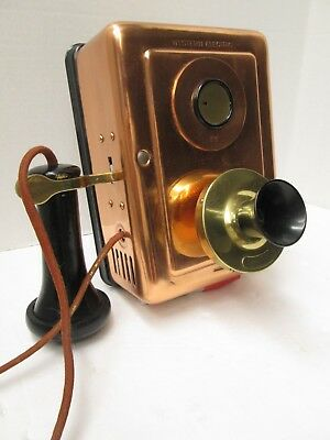 Antique 1913 Western Electric Copper  Wall Telephone Model 323 - Beautiful!