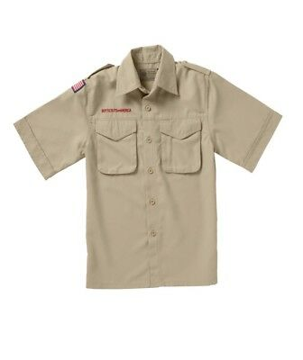 Boy Scout Youth Large Short-sleeve polyester microfiber shirt