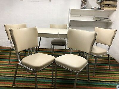 Retro Formica & Chrome Table & 5 Chairs