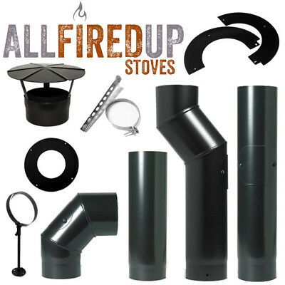 Black Stove Pipe Vitreous Enamelled Stove Pipe For Solid Fuel Multifuel Stoves