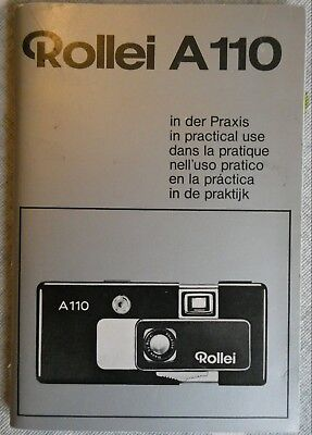 Vintage Instruction Booklet for Rollei A110 Film Camera