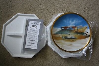 Star Wars Space Vehicles Jabba's Sail Barge Hamilton Collector Plate 1997