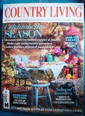COUNTRY LIVING MAGAZINE ISSUE NOVEMBER 2018 ~ NEW ~ in original mailer (opened)
