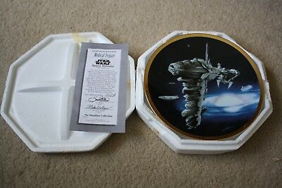 Star Wars Space Vehicles Medical Frigate Hamilton Collector Plate 1996