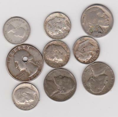 Us Silver Coins Plus Silver Canadian Dime And Buffalo Nickle