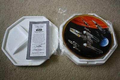 Star Wars Space Vehicles Y-Wing Fighter Hamilton Collector Plate 1997