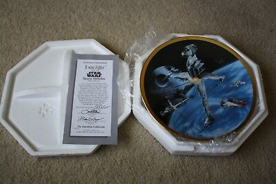 Star Wars Space Vehicles B-Wing Fighter Hamilton Collector Plate 1995