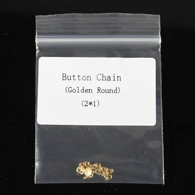 Dental Orthodontic Traction Chain Golden Round Mesh Base Lingual Buttons