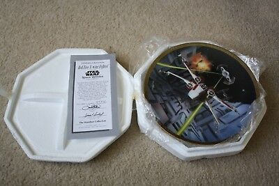 Star Wars Space Vehicles Red Five X-wing Fighter Hamilton Collector Plate 1995