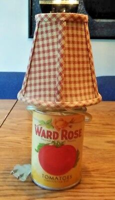 Vintage Ward Rose Tomato Can Lamp