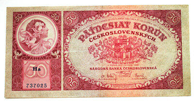 50 crown 1929 Czechoslovakia Banknotes