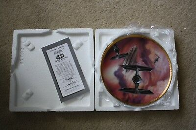 Star Wars Space Vehicles TIE Fighters Hamilton Collector Plate 1995