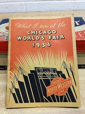 1934 What I Saw At The Chicago World's Fair Memo Book, Northwestern Line, RR