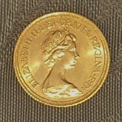 GOLD - Münze Sovereign 1 Brit. Pfund * 1976 * Queen Elizabeth II (QE II) * RAR *