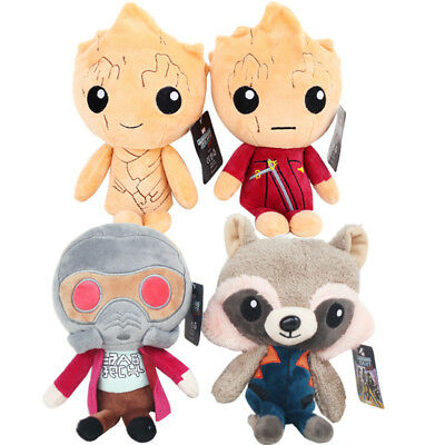4PCS Guardians of the Galaxy 2 Cute Soft Plush Rocket Raccoon Groot Toy Doll