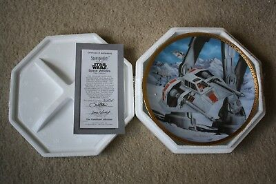 Star Wars Space Vehicles Snowspeeders Hamilton Collector Plate 1995