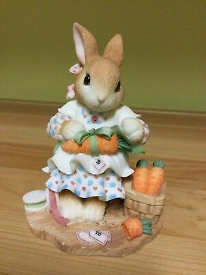"Enesco My Blushing Bunnies Figure ""Share Your Blessings With All"""