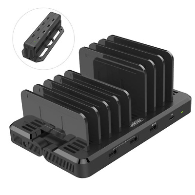 USB C Charging Stations, EZPlug 8-Port 120W TRANSFORMABLE Wall Charger US SHIP