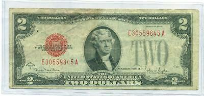 1928 G $2 Red Seal U.s. Note