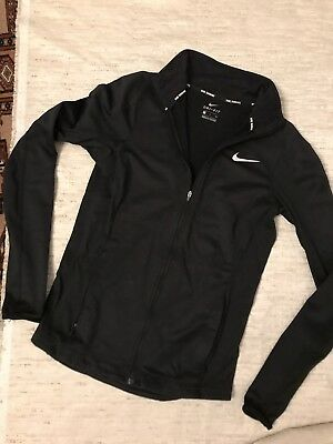 Nike Running Dry Fit Jacke Schwarz S 36 38 Dry Fit CrossFit Fitness Gym