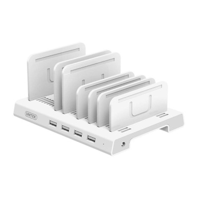 4 Ports Charging Station, 36W/7.2A Desktop USB Fast Charger Tablet Organizer HOT