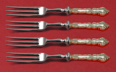 """Meadow Rose by Wallace Sterling Silver Fruit Fork Set 4pc HH WS Custom Made 6"""""""