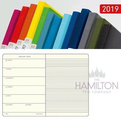 LEUCHTTURM 1917 2019 WEEKLY PLANNER & NOTEBOOK DIARY - 13 colours available