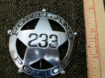 Vintage Obsolete Portland Police Badge