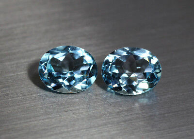 7.74 CTS_AMAZING ! MATCHING PAIR 100 % NATURAL SKY BLUE TOPAZ_11 x 9 Oval_BRAZIL