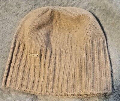 Calvin Klein Kids Children Beige Knit Hat Beanie Cap Size Small NEW