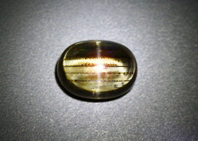 9.95 Cts_Unique Antique Stone_100 % Natural Rainbow Rutile Scapolite Cat's Eye