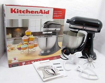 KITCHENAID K45SS ONYX Black Classic Series 4.5 Quart Tilt Head Stand Mixer