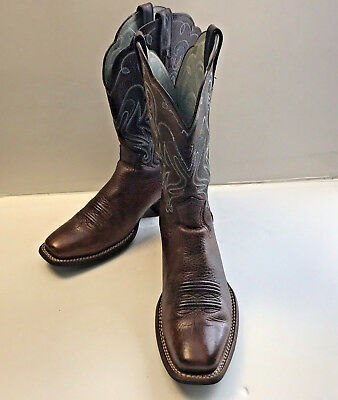f75b96611b3 Ariat Womens Legend Western Boots Oiled Brown Square Toe Size 9B Retail   179.99
