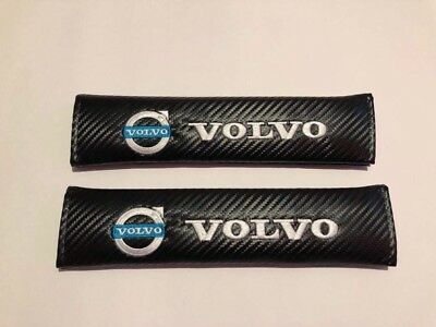 2X Seat Belt Pads Carbon Present Volvo Car Truck Camion Lorry Tractor FH FM FL