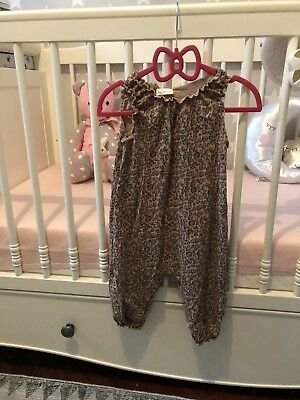 Next Girls Leopard Print Playsuit 9-12 Months