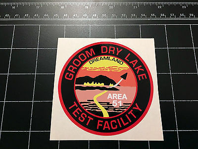 Area 51 - Groom Dry Lake Test Facility logo decal sticker Roswell UFO alien ET