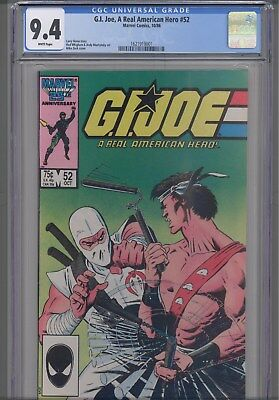 GI Joe  #52 CGC 9.4  1986 DC Comic: New Frame
