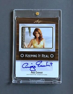 Angie Everhart 2012 Leaf Pop Century Keeping It Real Auto Card